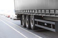 黑色卡车 免版税图库摄影