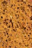 黄色印地安手工制造砖表面  孔和污点 库存照片