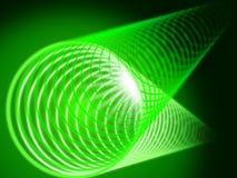绿色卷背景显示发光和管 免版税库存照片