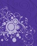 紫色卷须背景 库存图片