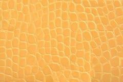 黄色压花革纹理背景 免版税图库摄影