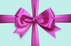 紫色双重弓十字架 免版税库存图片