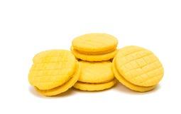黄色双重果子饼干 库存照片
