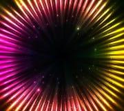 紫色发光的宇宙光抽象背景 免版税库存图片