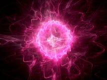 紫色发光的火球闪电 向量例证