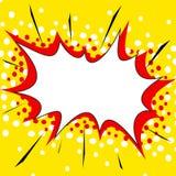 黄色可笑的样式爆炸背景 免版税库存图片