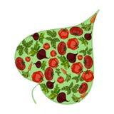 绿色叶子充满菜 向量 向量例证