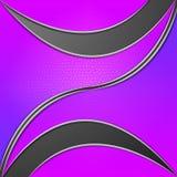 紫色叶子背景手段弯曲的线和厂 库存图片