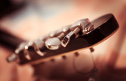 黑色吉他 免版税库存照片