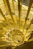 黄色向下螺旋 免版税库存图片