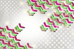 绿色和桃红色箭头,抽象背景 免版税图库摄影