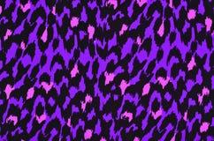 紫色和桃红色豹子毛皮样式 库存图片