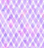 紫色和桃红色颜色V形臂章在白色背景的 织品的水彩无缝的样式 免版税库存图片