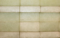 绿色和棕色砖 库存图片
