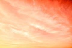 黄色和橙色天空 库存照片