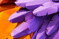 紫色和橙色纸背景 图库摄影