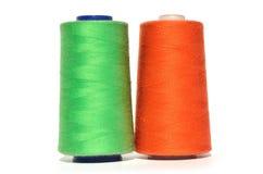 绿色和橙色螺纹 免版税库存照片