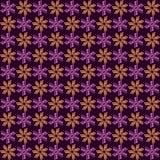 紫色和橙色马赛克花 免版税库存照片