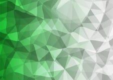 绿色和灰色三角背景 库存图片