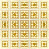 黄色和白色圆点正方形摘要设计瓦片样式R 库存照片