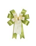 绿色和白色弓 免版税库存图片