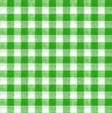 绿色和白色桌布纹理墙纸 库存图片