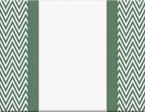 绿色和白色雪佛之字形框架有丝带背景 库存图片