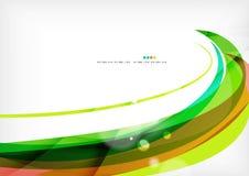 绿色和红线漩涡 图库摄影