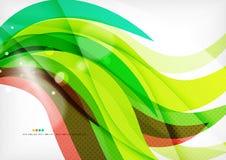 绿色和红线漩涡 免版税图库摄影