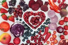 紫色和红色健康食品 免版税图库摄影