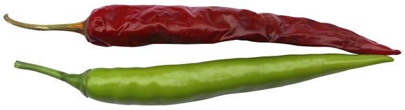 绿色和红色冷颤 库存照片