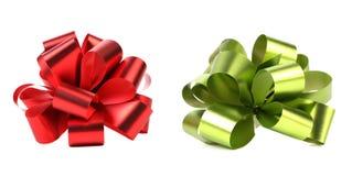 绿色和红色包装的带。 免版税库存图片
