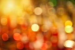 黄色和红色bokeh背景 免版税库存图片