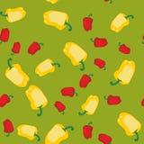 黄色和红辣椒无缝的纹理609 库存例证