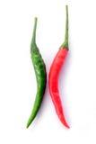 绿色和红辣椒 免版税库存照片