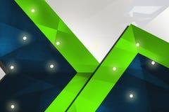 绿色和蓝色六角形,抽象背景 免版税库存图片