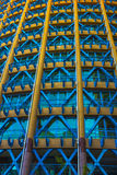 黄色和蓝色大厦 库存图片