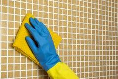黄色和蓝色布料 免版税图库摄影