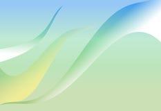 绿色和蓝色梯度摘要曲线波浪背景 库存照片
