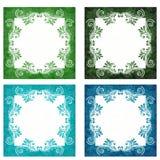 绿色和蓝色背景 免版税库存照片