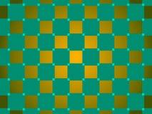 绿色和金抽象背景,正方形 免版税图库摄影