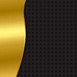 黑色和金背景与样式 免版税库存照片