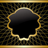 黑色和金背景-与梯度的框架 库存图片