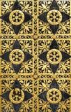 黑色和金装饰品 免版税库存照片