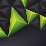 绿色和黑传染媒介几何背景。 免版税图库摄影