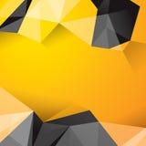 黄色和黑几何背景。 免版税库存照片