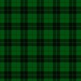 绿色和黑格子花呢披肩织品背景 免版税库存照片