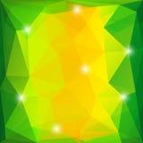 绿色和黄色三角背景 免版税库存图片