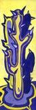 紫色和黄色书刊上的图片 免版税库存照片