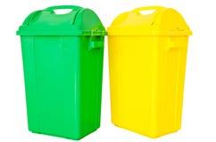 绿色和黄色垃圾 库存图片